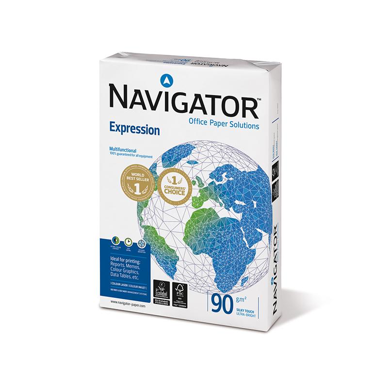 Papīrs NAVIGATOR EXPRESION  A4 90g/m2, 500 loksnes/iepakojumā