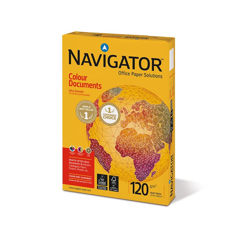 Papīrs NAVIGATOR COLOUR DOCUMENTS A4 120g/m2, 250 loksnes/iepakojumā