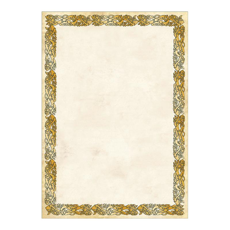 Dizaina papīrs CELTIC A4, 20 loksnes/iepakojumā, 250g/m2