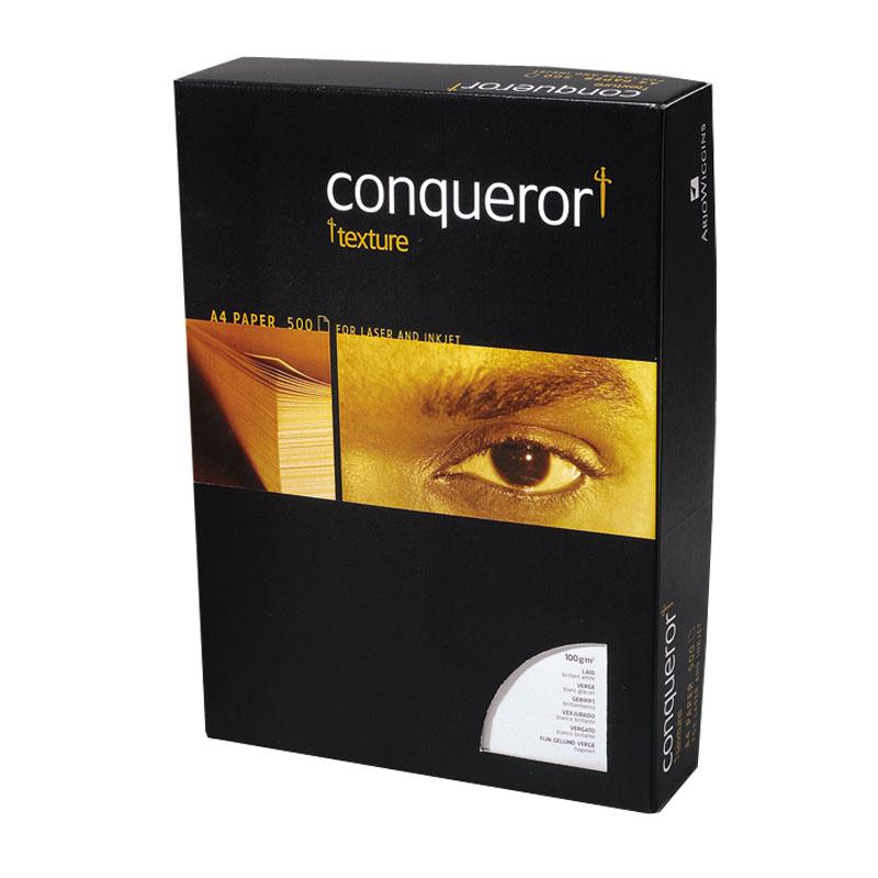 Papīrs CONQUEROR Texture Laid A4 100g/m2 krēmkrāsa 500 loksnes/iepakojumā