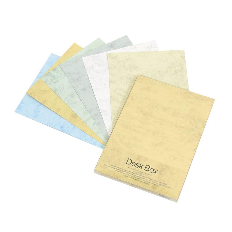Dizaina papīrs MARMOR A4 200g/m2 dzeltenā krāsā, 70 loksnes/pakā
