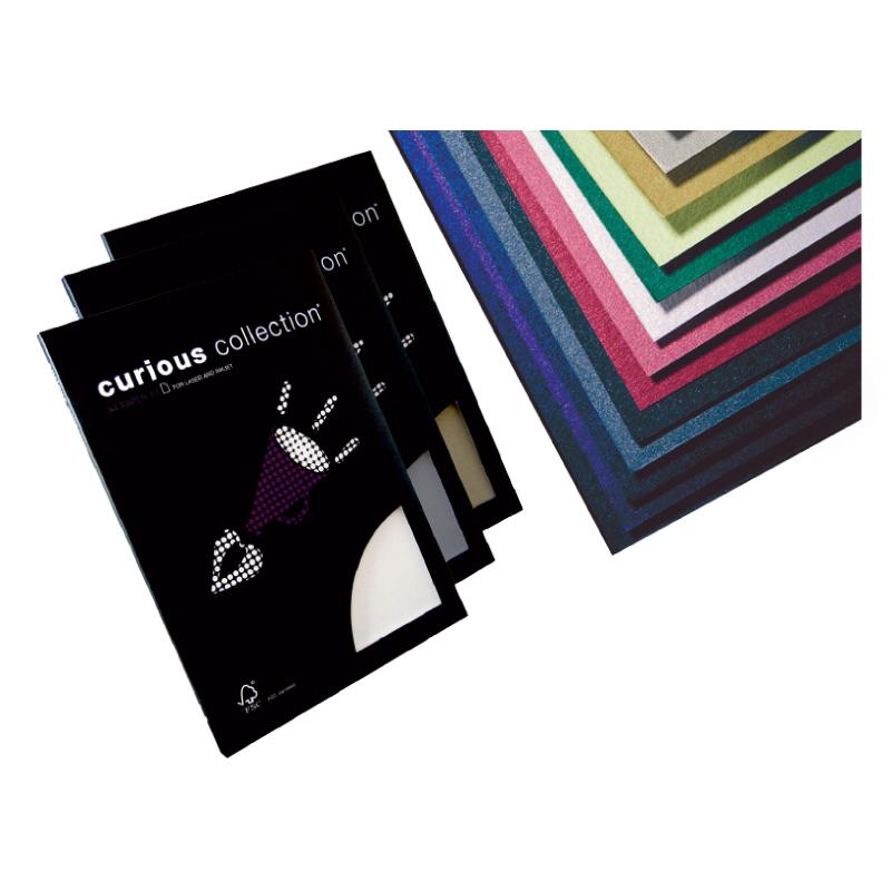 Dizaina papīrs CURIOUS Metallic White Gold A4 formāts 120g/m2, 50 loksnes/pakā