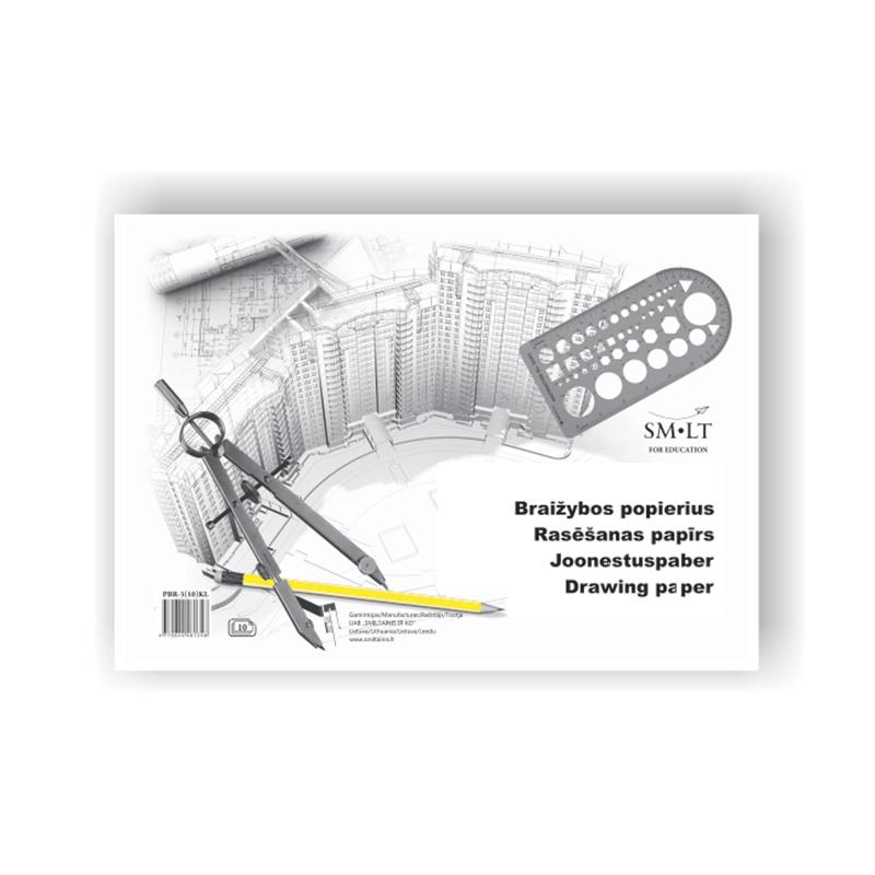 Papīrs rasēšanai SMLT A3, 160 g/ m2, 10 loksnes