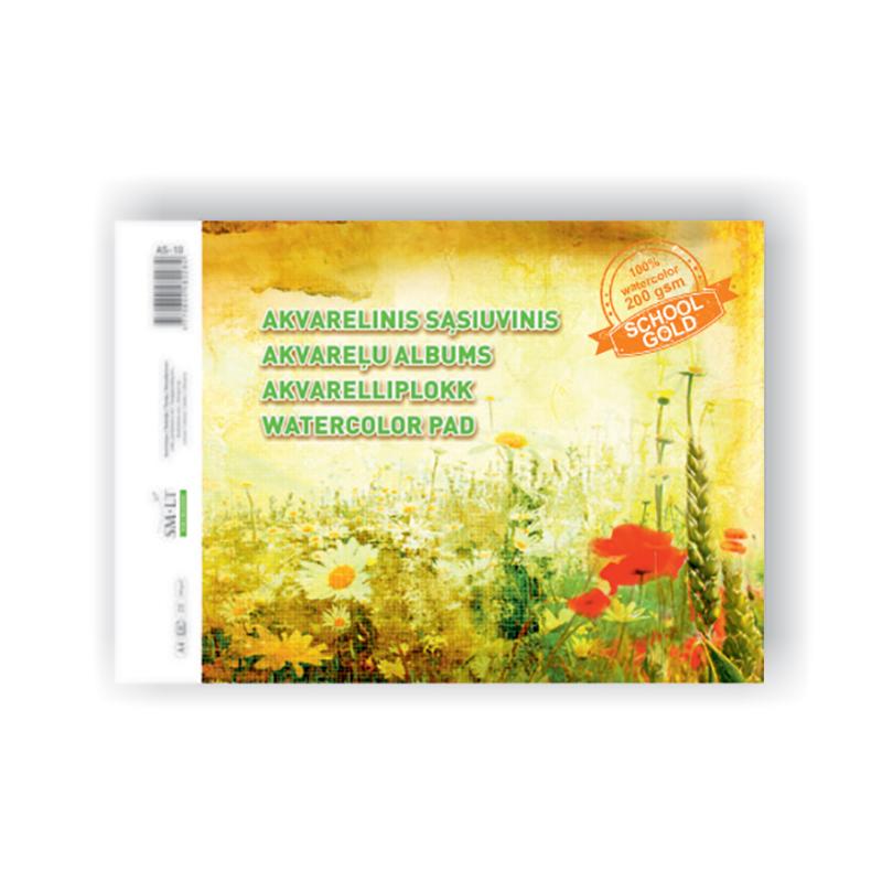 Akvareļu zīmēšanas albums Smiltainis A4 formāts,210 g,10 lapas