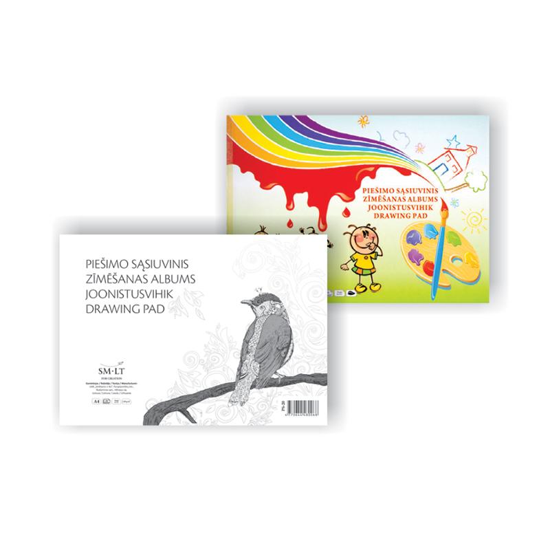 Zīmēšanas albums Smiltainis A4 formāts, 120 g, 20 lapas