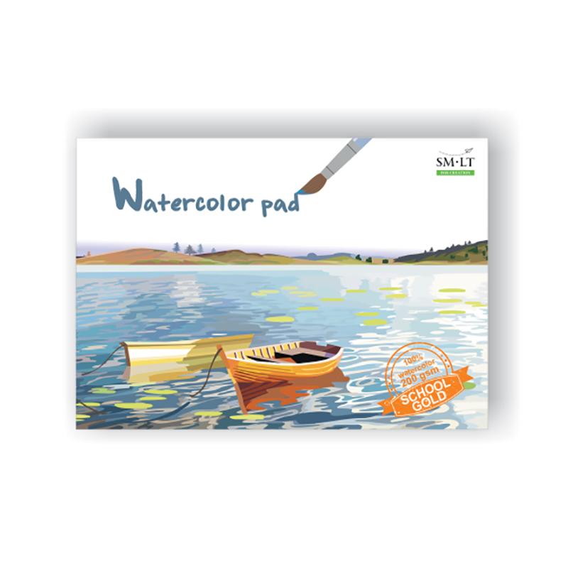 Akvareļu zīmēšanas albums SMLT A4 formāts, 210 gr, 20 lapas