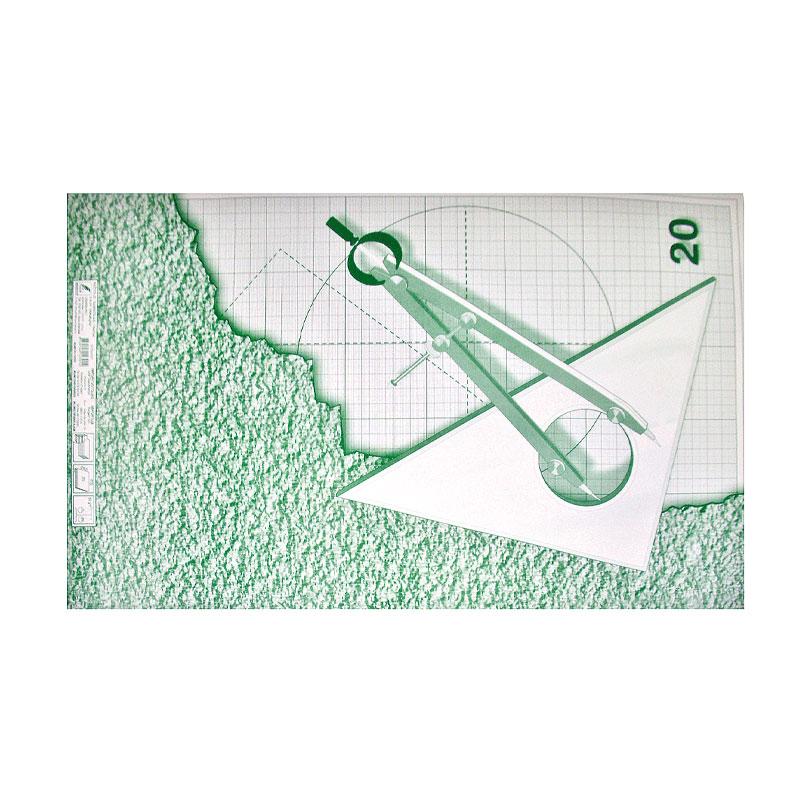 Milimetru papīrs KRESKA A1, 64x90cm, ar oranžām līnijām, 1 loksne