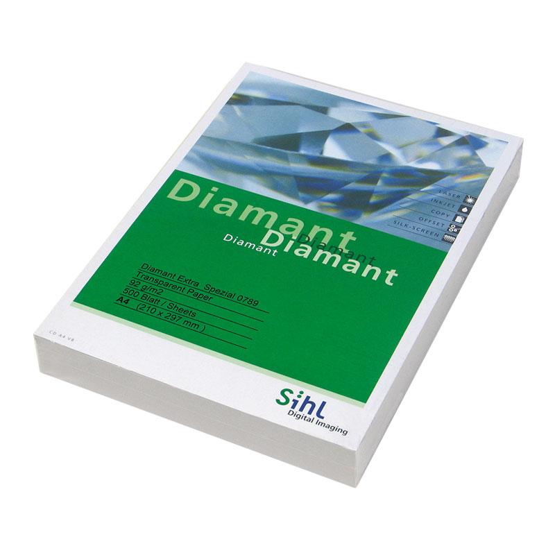 Pauspapīrs A4 formāts 92g/m2, 500 loksnes/iepakojumā  (00789092FO) DIAMANT Transparent