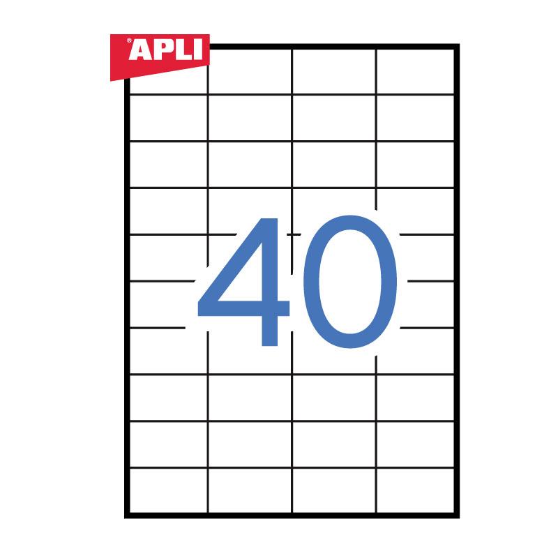 Uzlīmes APLI ILC ar izmēru 52.5x29.7mm, 100 loksnes/40 uzlīmes loksnē (3130)