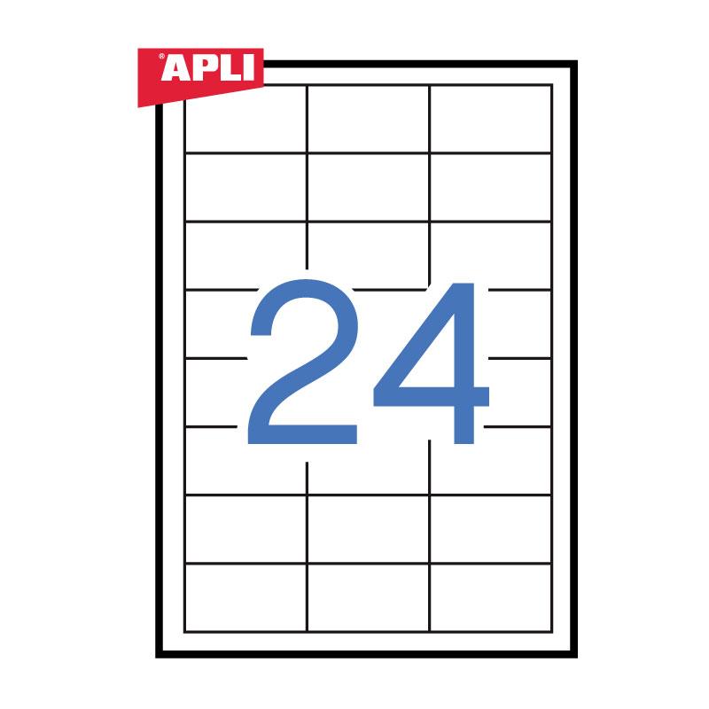 Uzlīmes APLI ILC ar izmēru 64.6x33.8mm, 100 loksnes/24 uzlīmes loksnē (03131,03056)