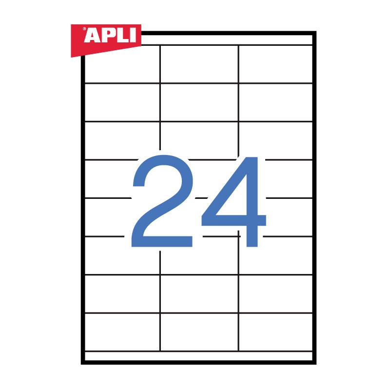 Uzlīmes APLI ILC ar izmēru 70x35mm, 100 loksnes/24 uzlīmes loksnē (3134)