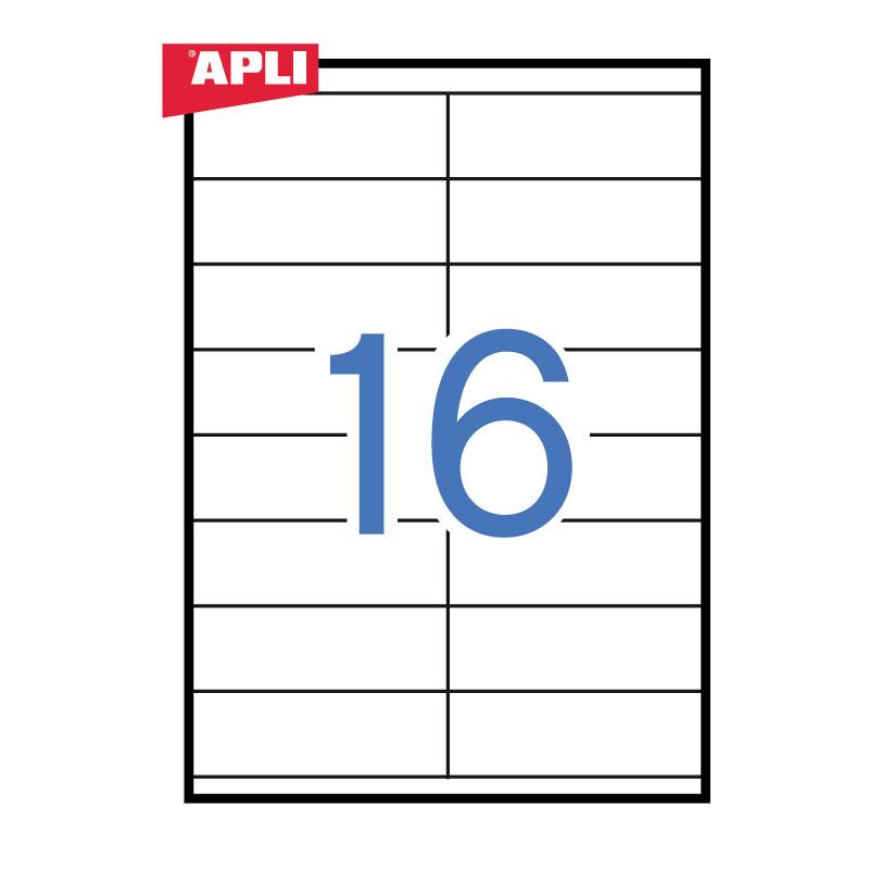 Uzlīmes APLI ILC ar izmēru 105x35mm, 100 loksnes/16 uzlīmes loksnē (3137)