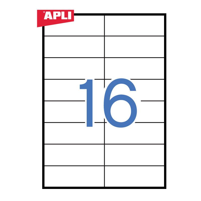 Uzlīmes APLI ILC ar izmēru 105x37mm, 100 loksnes/16 uzlīmes loksnē (10817)