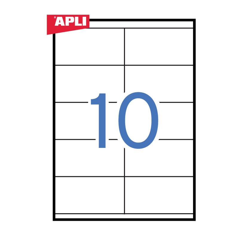 Uzlīmes APLI ILC ar izmēru 105x57mm, 100 loksnes/10 uzlīmes loksnē