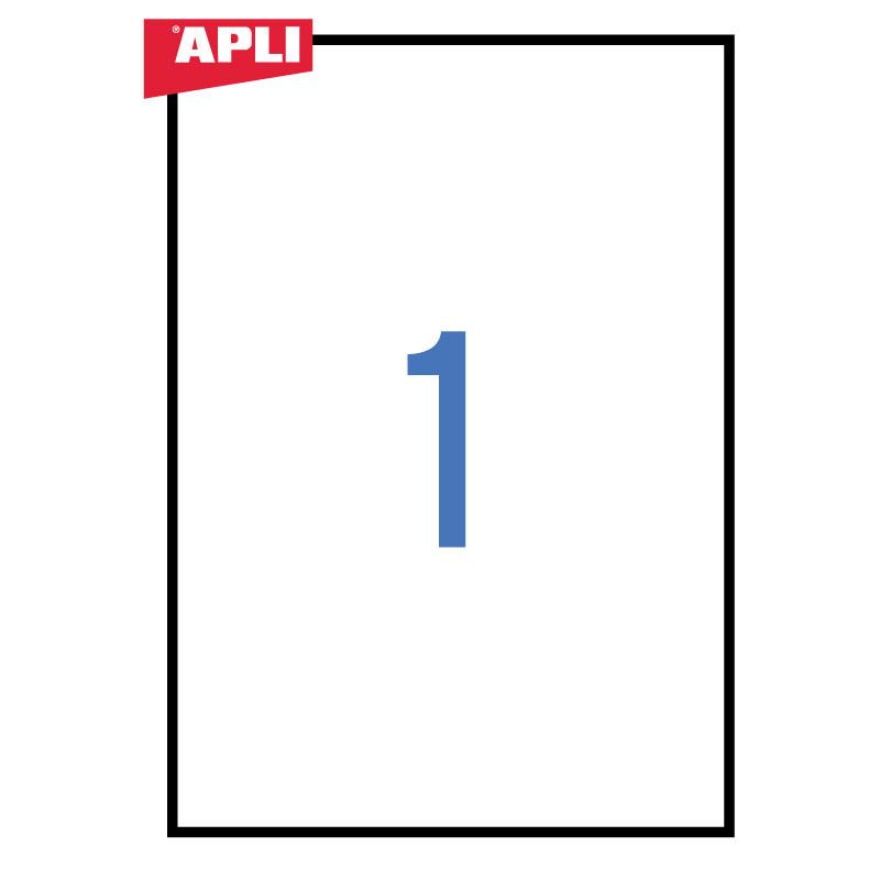 Uzlīmes APLI ILC ar izmēru 210x297mm, 25 loksnes/1 uzlīme loksnē (10819)