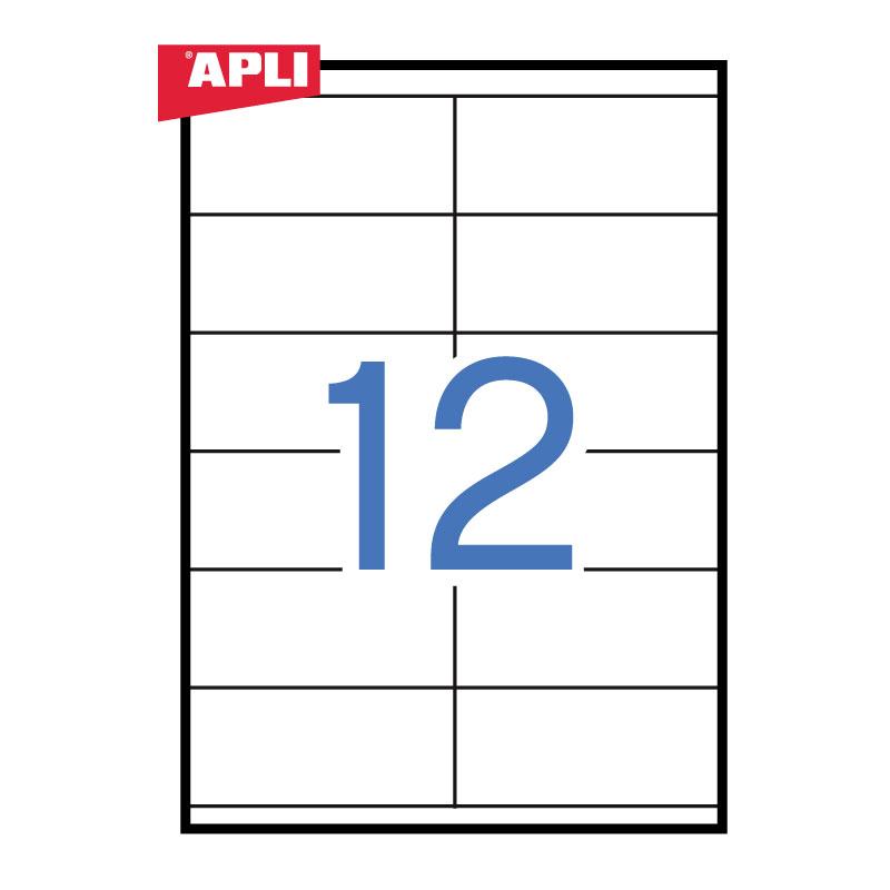 Uzlīmes APLI ILC ar izmēru 105x48mm, 100 loksnes/12 uzlīmes loksnē (3139)