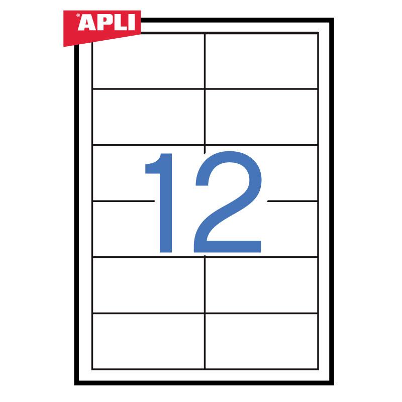 Uzlīmes APLI ILC ar izmēru 97x42.4mm, 100 loksnes/12 uzlīmes loksnē ( 03057)