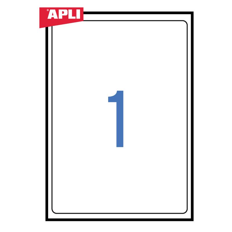 Uzlīmes APLI ILC ar izmēru 199.6x289.1 mm 100 loksnes/100 uzlīmes noapaļotas