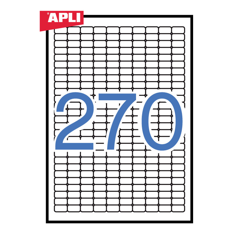 Uzlīmes APLI ILC ar izmēru 17.8x10mm, 25 loksnes/270 uzlīmes loksnē