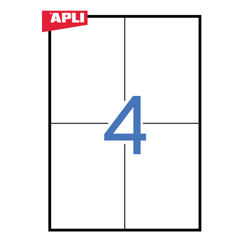 Uzlīmes APLI ILC ar izmēru 105x148mm, 100 loksnes/4 uzlīmes loksnē (03058)