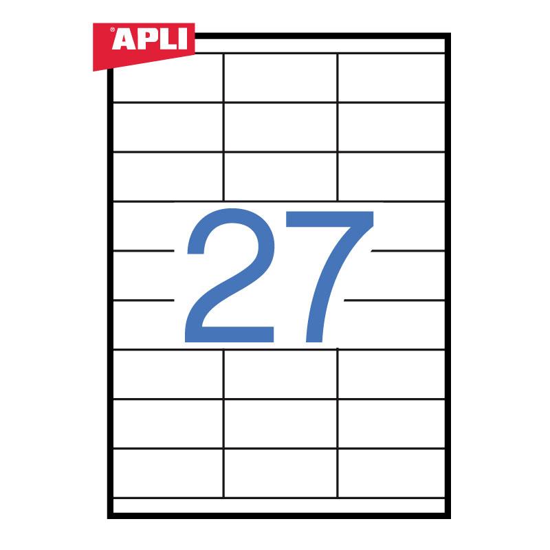 Uzlīmes APLI ILC ar izmēru 70x30mm, 100 loksnes/27 uzlīmes loksnē (3133)