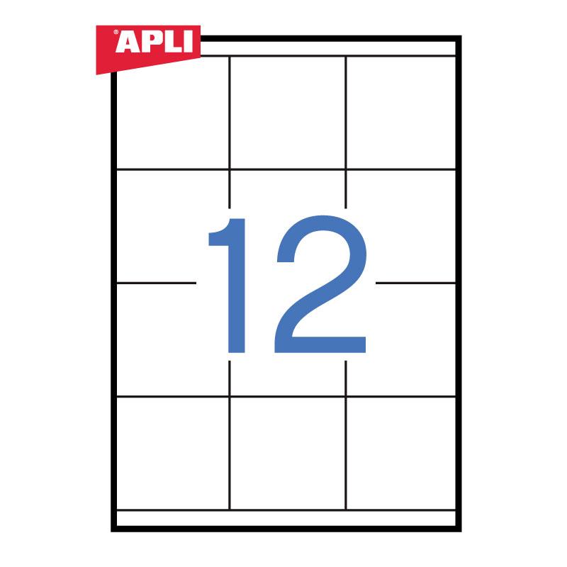 Uzlīmes APLI ILC ar izmēru 70x67.7mm, 100 loksnes/12 uzlīmes loksnē