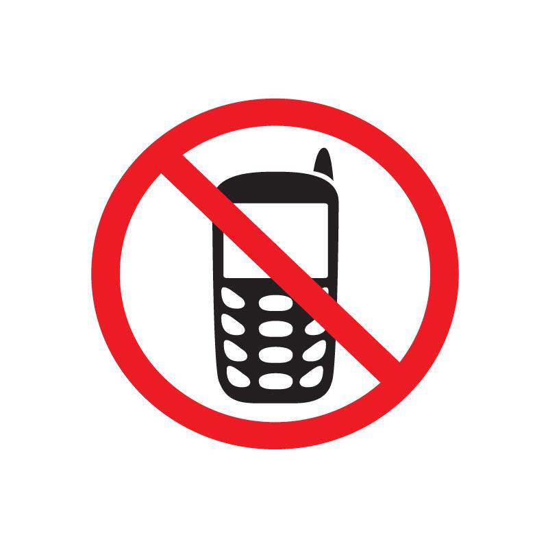Uzlīme APLI Runāt pa telefonu ir aizliegts, izmērs 114x114mm