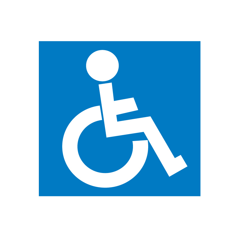 Uzlīme APLI Invalīdiem, izmērs 114x114mm
