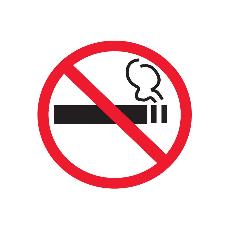Uzlīme APLI Smēķēt aizliegts, izmērs 114x114mm, logiem