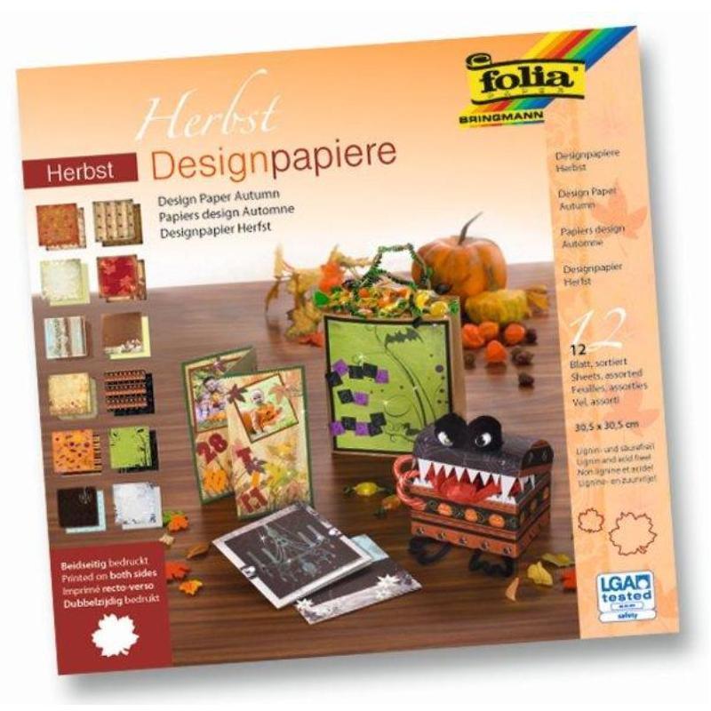 Albums ar dizaina papīru FOLIA RUDENS komplektā 12 loksnes