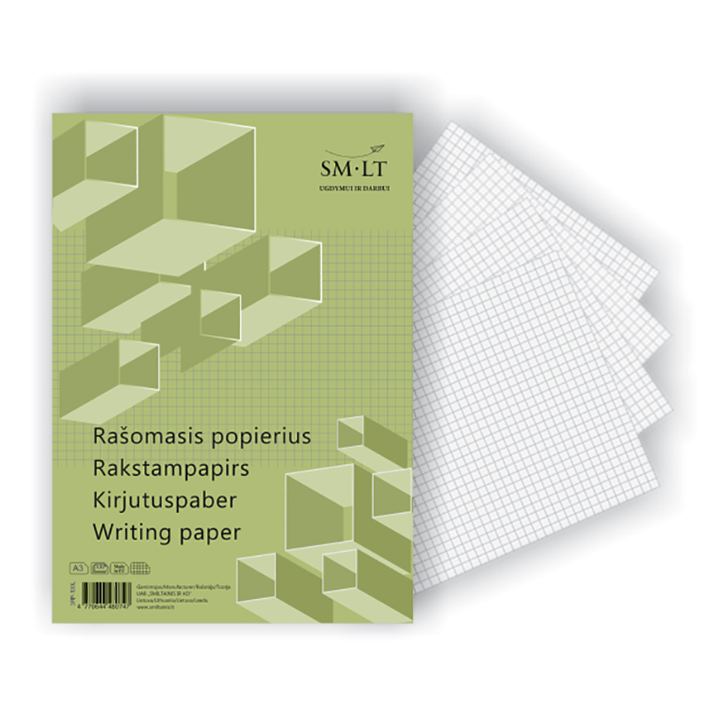 Rakstāmpapīrs SMLT rūtiņu, A3 formāts, 100 loksnes