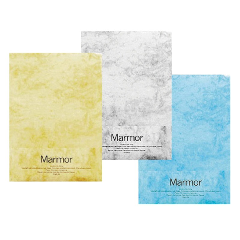 Dizaina papīrs MARMOR A4 90g/m2, dzeltenā krāsā, 100 loksnes/iepak.