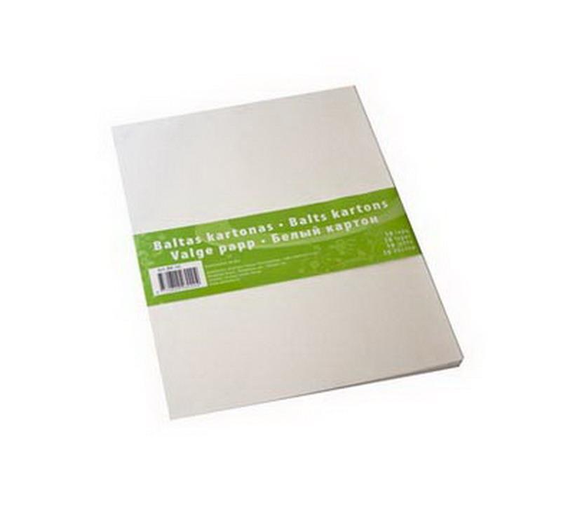 Kartons SMILTAINIS A4 formāts, 300g/m2, balts, 10 loksnes/iepak.  (B-K10)