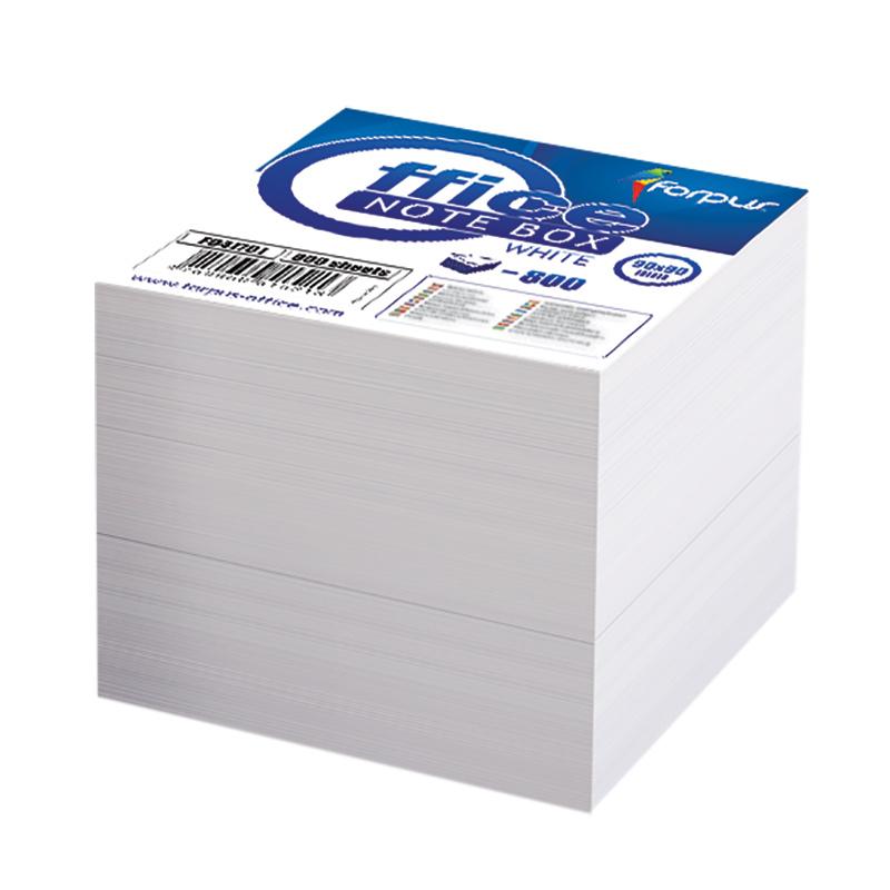 Piezīmju papīrs FORPUS maiņai, 8.5x8.5cm, 800 lapas baltā krāsā
