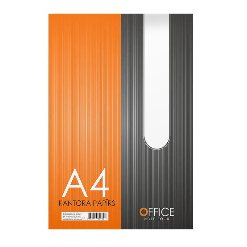 Rakstāmpapīrs ABC JUMS A4 formāts, 100 lok./iepak. balts