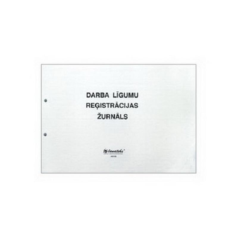 Veidlapa LANATEKS Darba līgumu reģistrācijas žurnāls, A5/24L