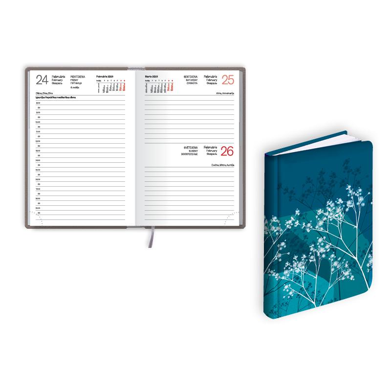 Kabatas kalendārs 2019.gadam EKO Mono FLEX blue.