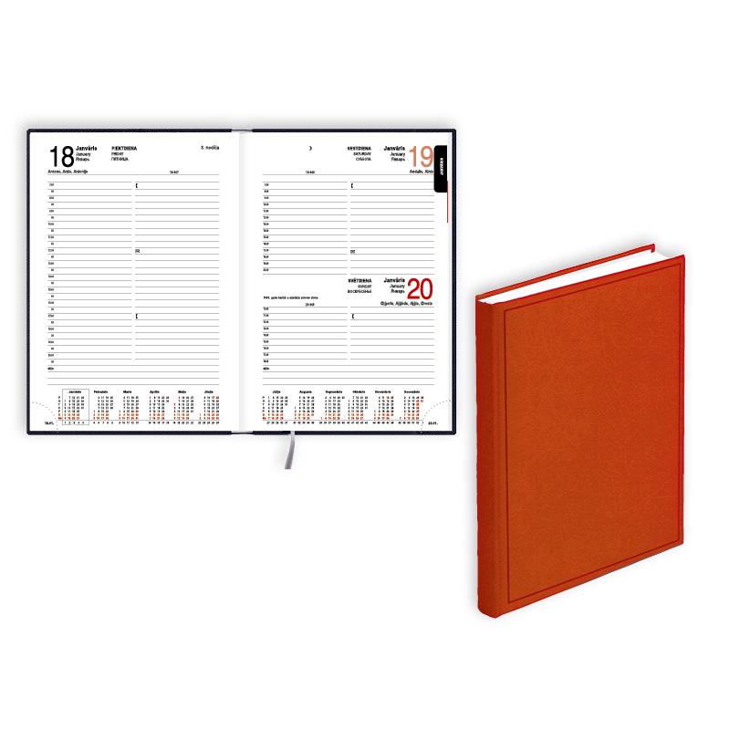 Dienasgrāmata 2020.gadam EKO Manager A5, diena,  balacron, oranža