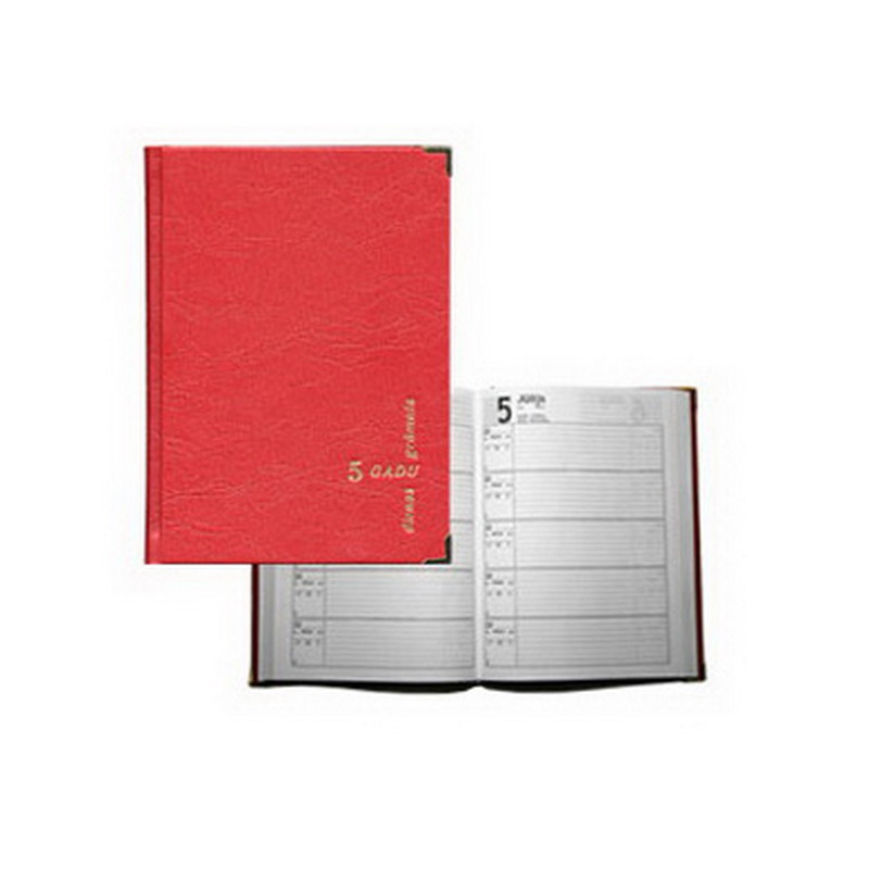 Dienasgrāmata SPIRGA 5 gadiem, 152x208x21mm, tumši..