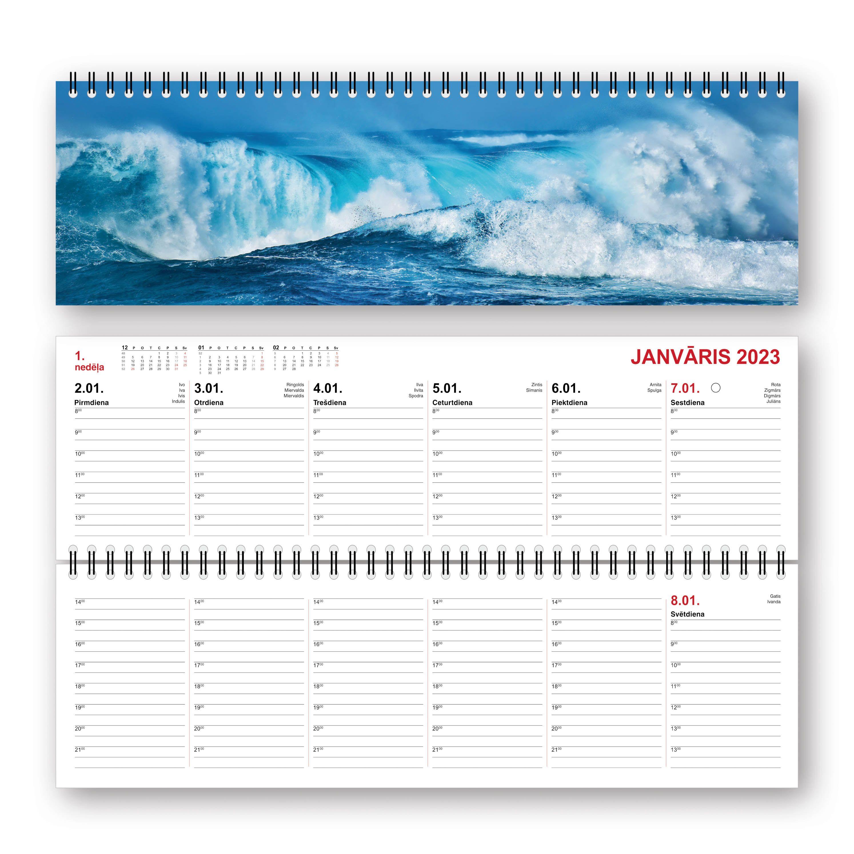 Galda kalendārs 2020.gadam Mobile Serviss Long kartona vākos, Nakts Rīga (Nr.1)