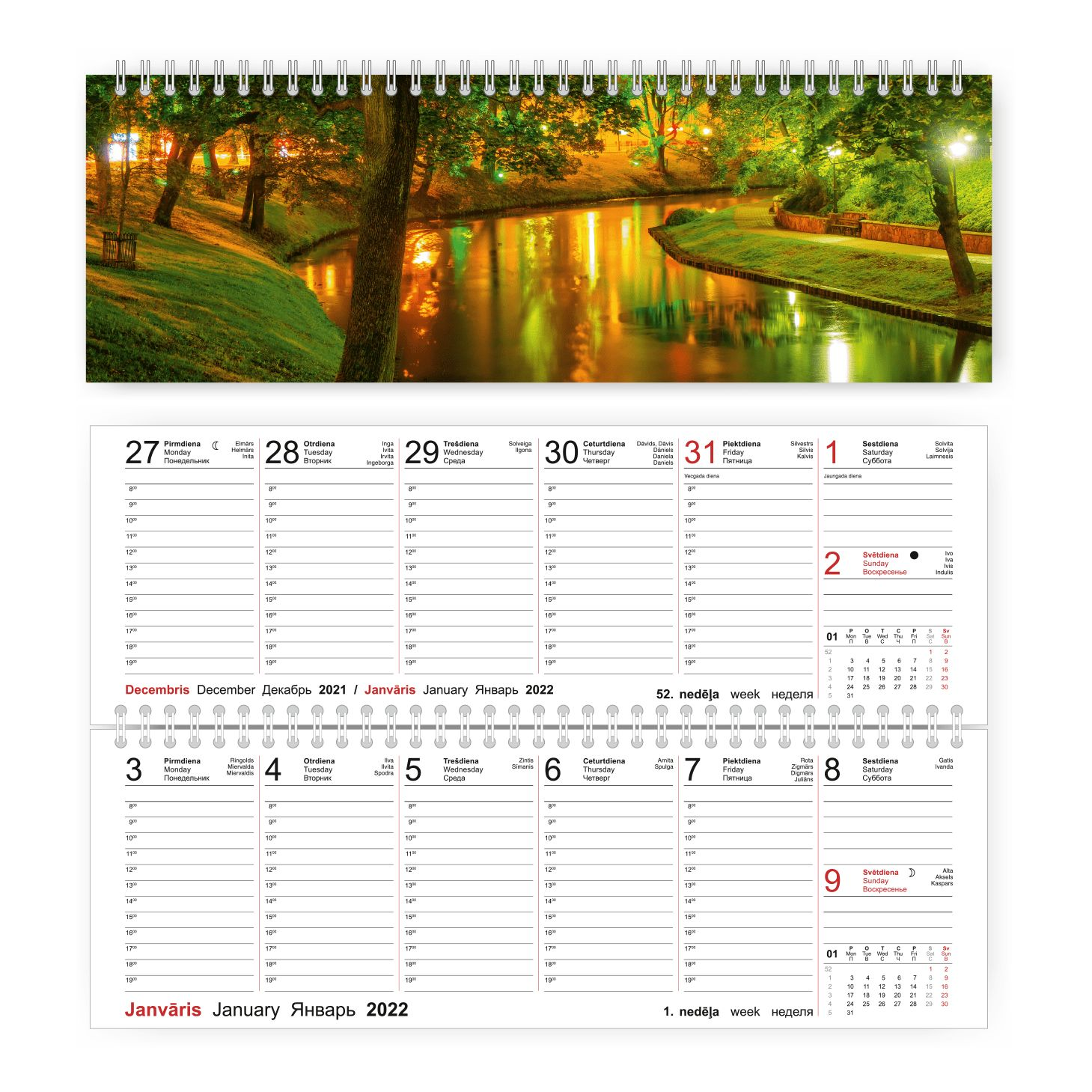 Pārliekamais galda kalendārs 2019.gadam Mobile Ser..