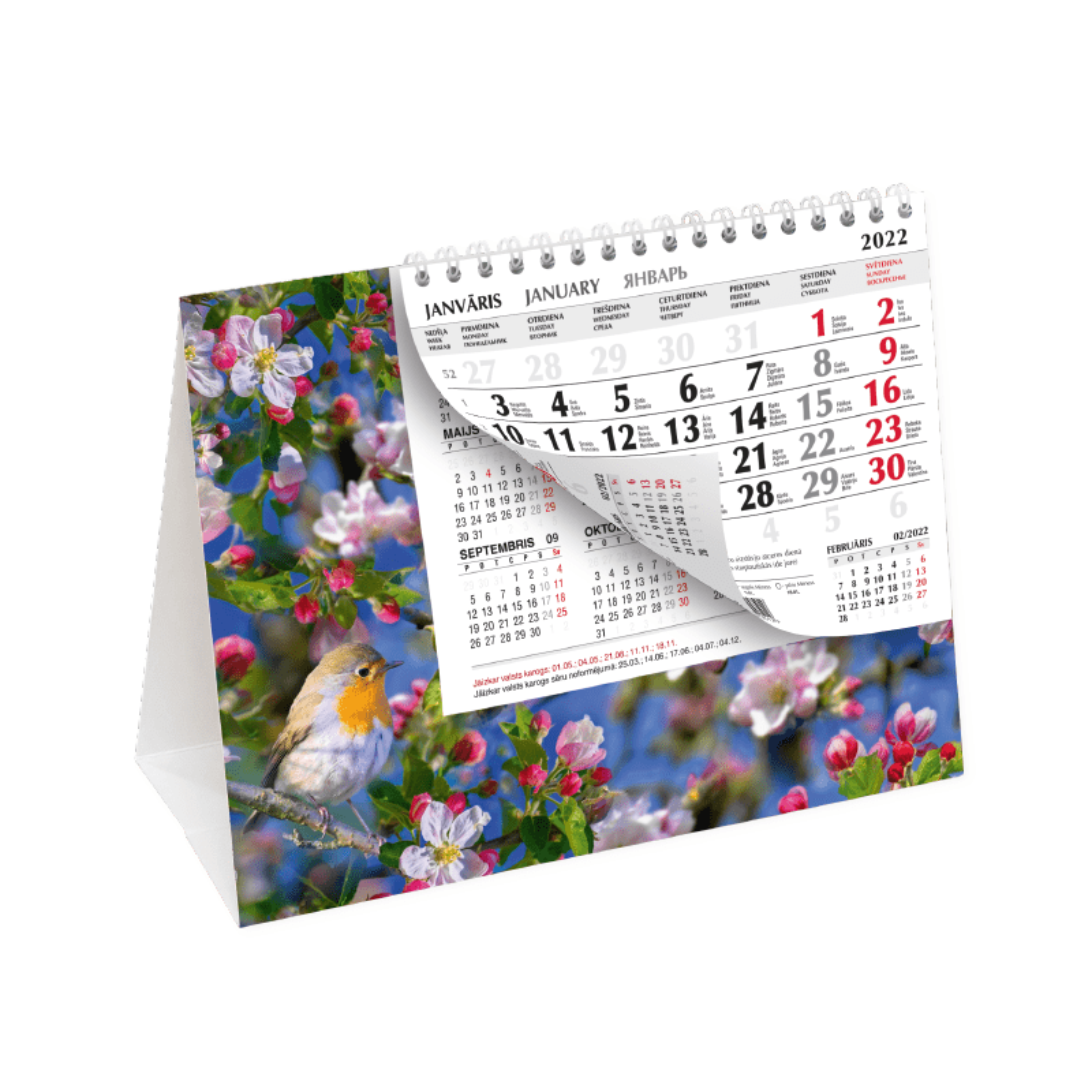 Galda kalendārs 2020.gadam Mobile Serviss Pyramid,..