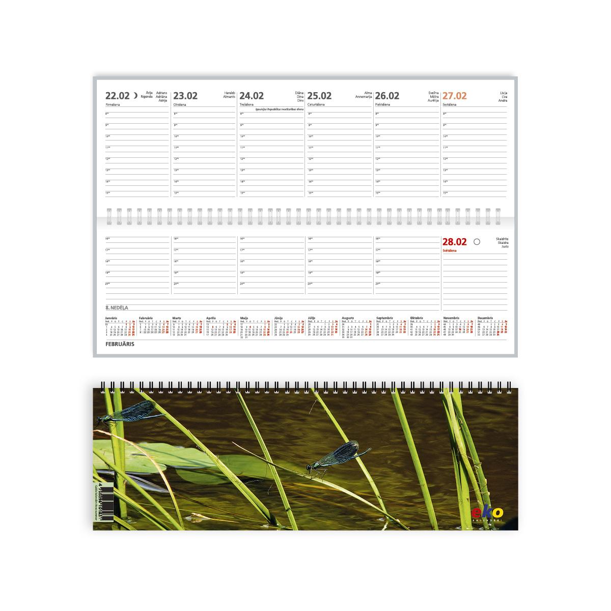 Galda kalendārs 2019.gadam EKO Boss Summer, no apdrukāta kartona