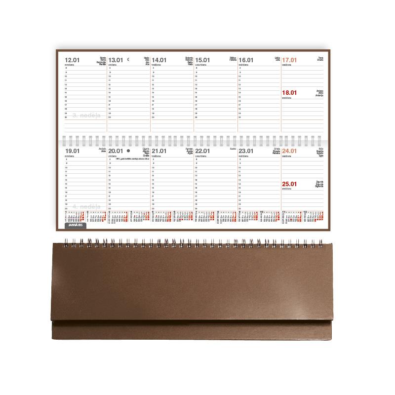 ---Galda kalendārs 2018.gadam EKO CREDO PVH, brūns..