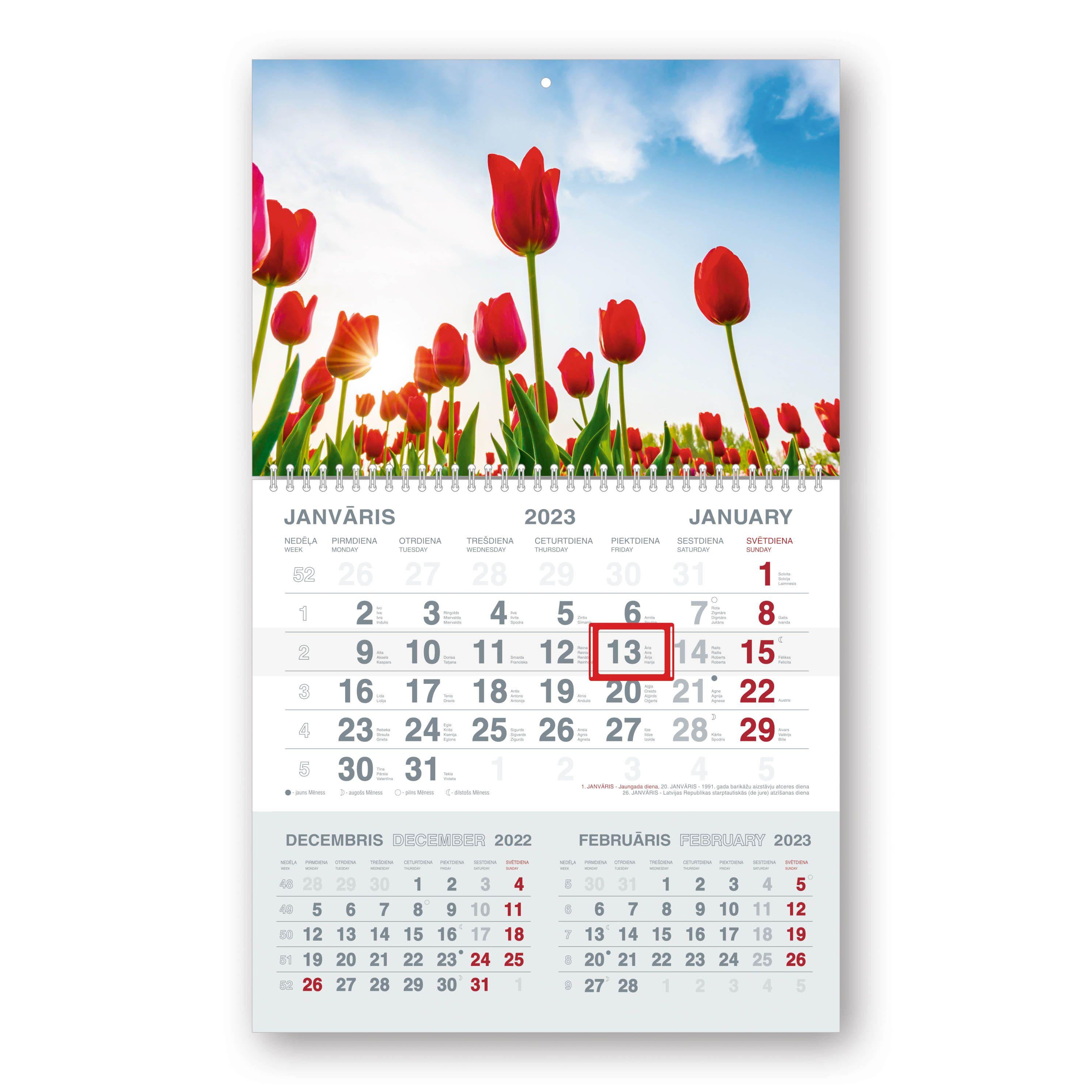 Sienas kalendārs 2019.gadam Mobile Serviss Short, ..