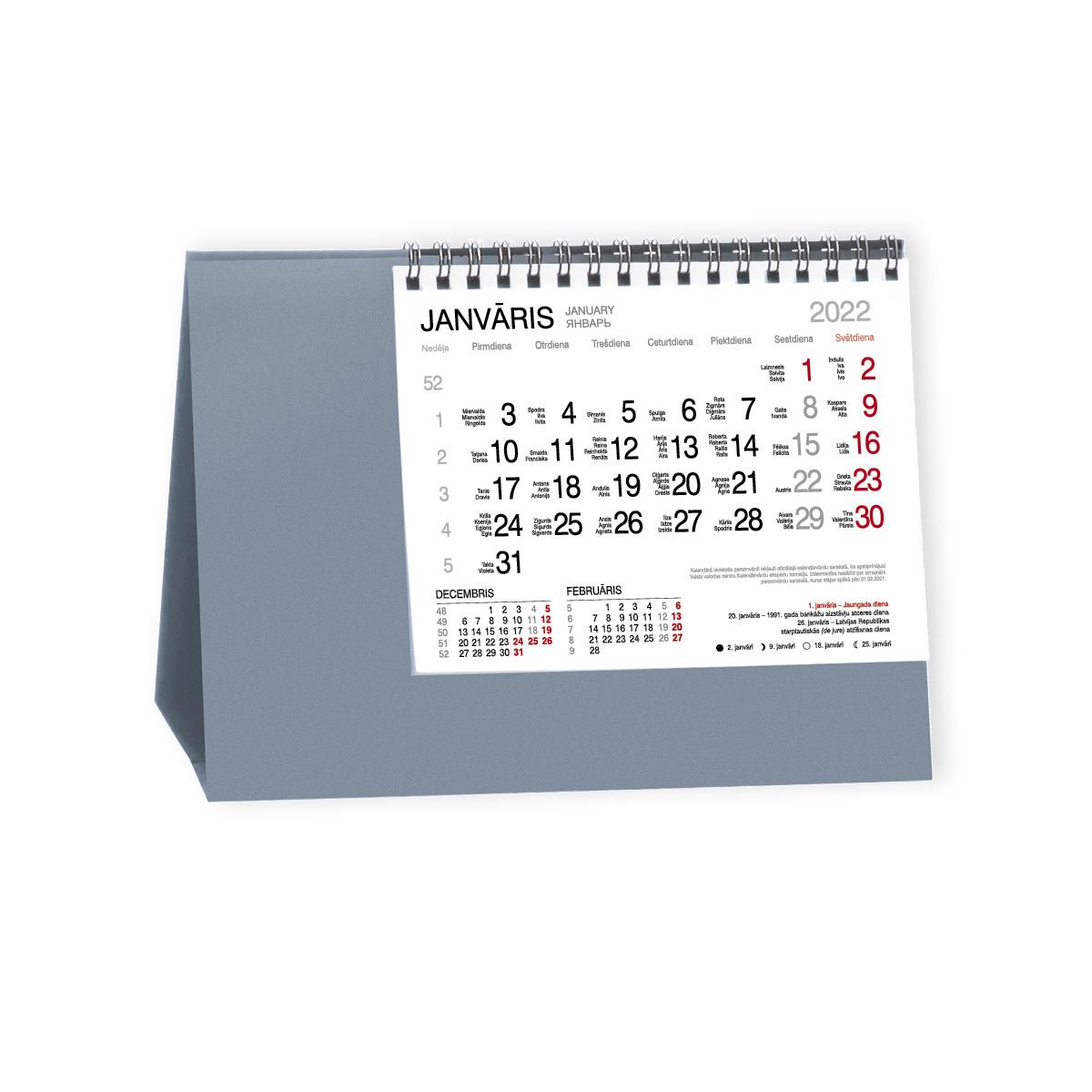 Galda kalendārs 2019.gadam EKO Roma Trend, zils
