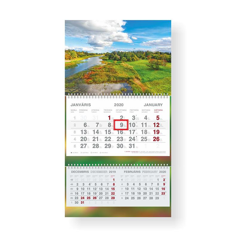 Sienas kalendārs 2020.gadam Mobile Serviss Short P..