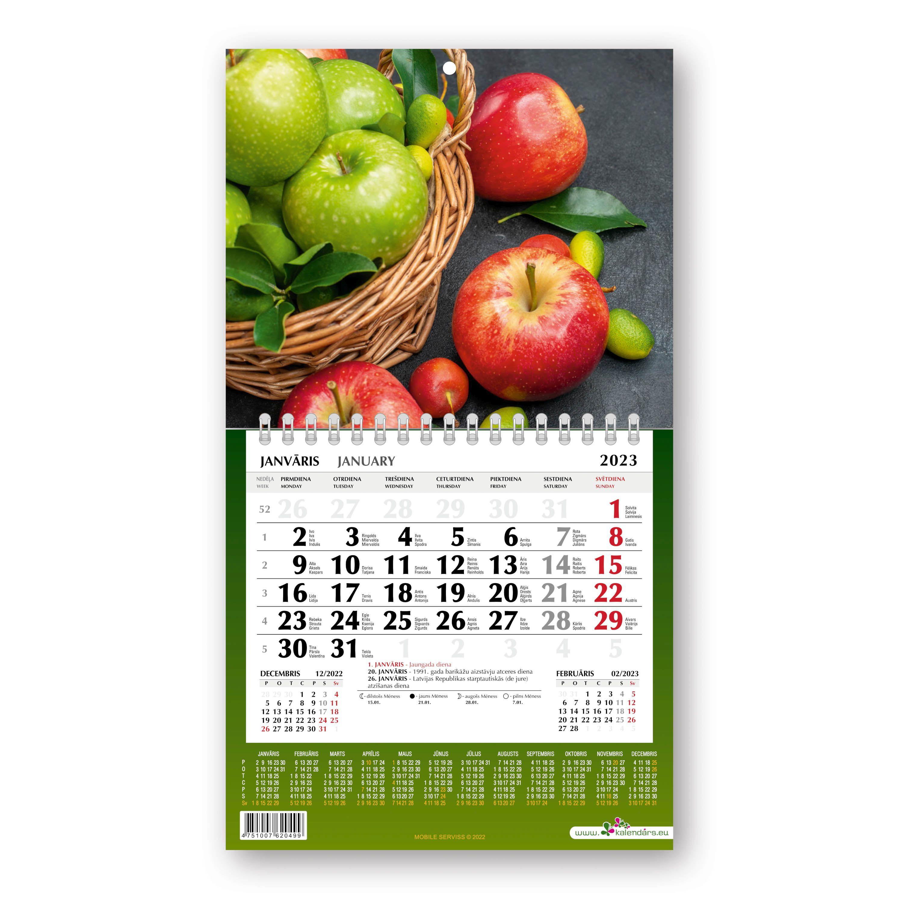 Sienas kalendārs 2020.gadam Mobile Serviss Mini, d..