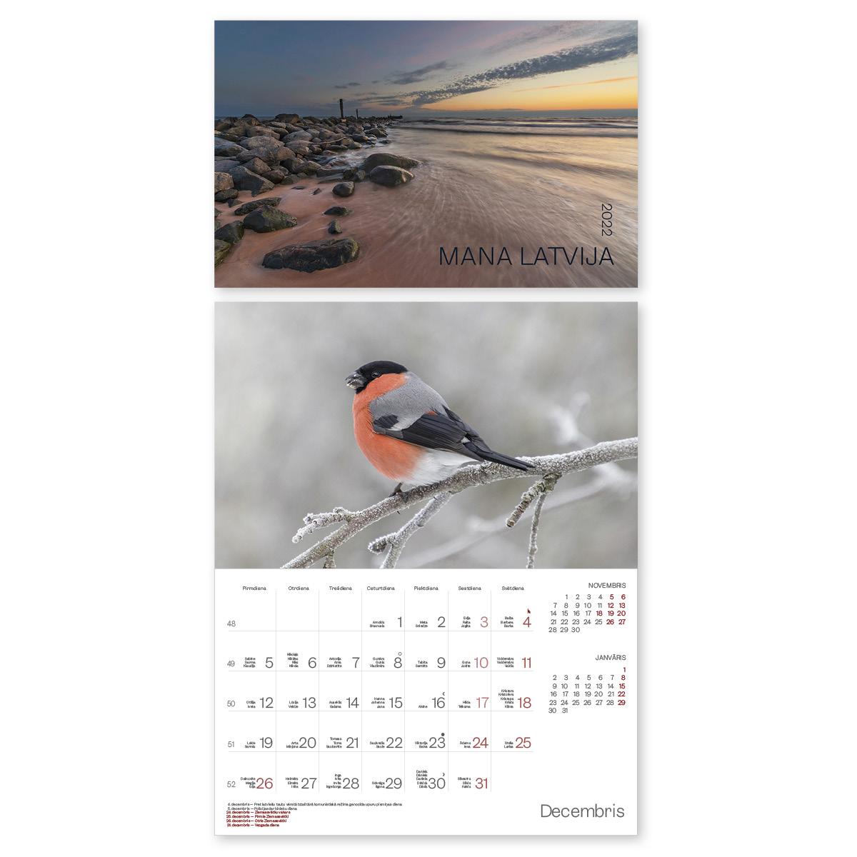 Sienas kalendārs 2018.gadam EKO Latvija
