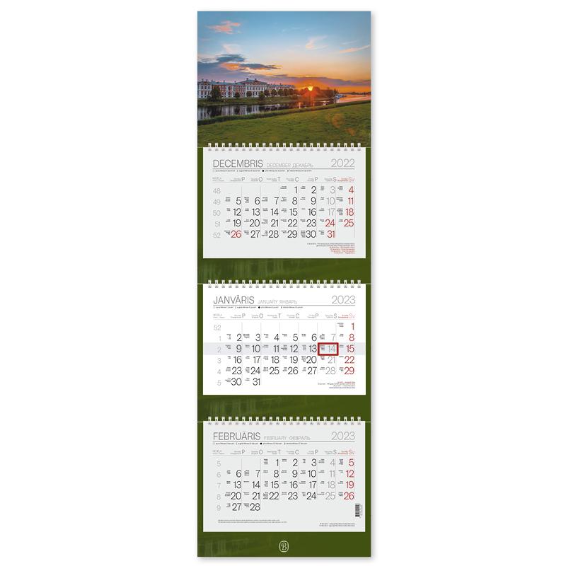 Sienas kalendārs 2020.gadam EKO TRIO Plus, trīsdaļ..